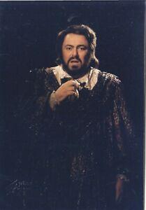 OPERA SINGER PHOTO/POSTCARD OF Luciano Pavarotti tenor in role - Fayer Vienna