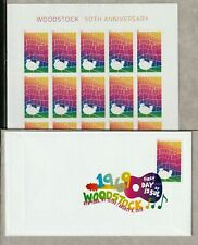 WOODSTOCK US #5409 FESTIVAL 50th ANNIVERSARY 20 FOREVER STAMP SHEET + DCP COVER