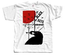 The Black Keys V2, poster, rock band, Dan Auerbach DTG T-SHIRT (WHITE) S-5XL