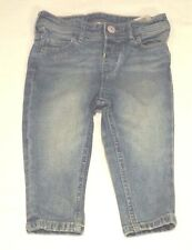 H&M BABY TODDLER GIRL 6 - 9m VINTAGE FADED STONEWASH STYLE BLUE DENIM JEANS