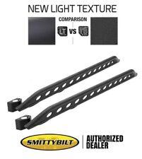 Smittybilt SRC Rocker Guards w/ Plate Light Texture 07-18 Jeep Wrangler JK 4 Dr