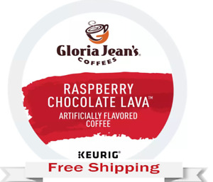 Keurig Gloria Jeans Raspberry Chocolate Lava Coffee K-cups 24 Count