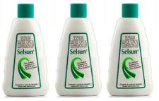 3 x Selsun Suspension Anti Dandruff Hair Shampoo Medicated Treatment 120ml