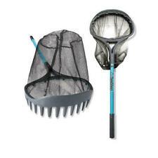3 Piece Gardening Pond tool Set Net Scraper Water Rake Telescoping Steel Handle