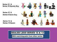 Series 12 13 Factory Sealed Lego Costume Castle Minifigures (6 15 16 Pairs)