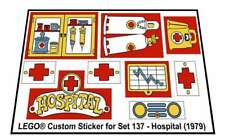 Replica Sticker for Lego® Fabuland set 137 - Hospital (1979)