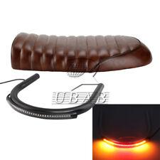Motorcycle Flat Seat Cushion & 230mm Frame Hoop Loop & LED Turn  Light Strip