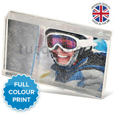 """Personalised Acrylic Photo Glitter Block Picture Gift Present 