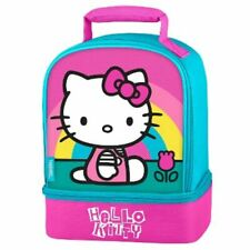 Hello Kitty Sanrio Thermos Ragazze senza Piombo Dual-Chamber Pranzo Tote Box Kit