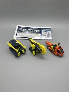 Transformers Armada Mini-Con Destruction Team 100% Complete Dualor Buzzsaw Drill