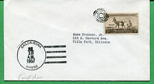 Hawaii First Day Cover 1957 Target Cancel Kailua-Kona to Villa Park IL - S8289
