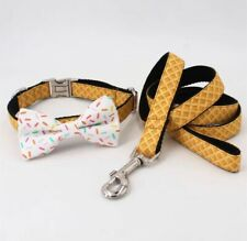 Adjustable Dog Collar Sprinkles With Cone Collar With Removable Bow And lead