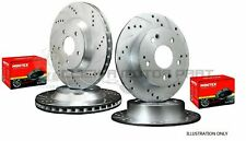 for HONDA S2000 99-09 FRONT & REAR DRILLED AND GROOVED BRAKE DISCS MINTEX PADS