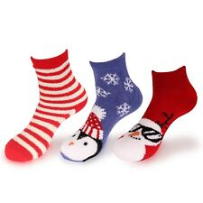 Women's Christmas Super Soft Cozy Warm Fuzzy Comfy Home Indoor Outdoor Socks