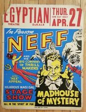 Bill Neff Window Card - Madhouse of Mystery