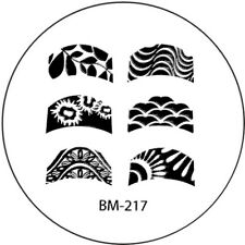 Stamping plaque Bundle Monster BM217 pour vernis ongles