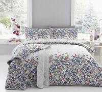 Dreams & Drapes Malinda Floral Reversible Duvet Cover Bedding Set Chambray