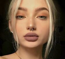 Silver Nose Ring Hoop Ear Septum 8mm Helix Cartilage Tragus Small Thin Piercing