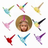 Bandeau de fleur de licorne décorative cheveux Hoop Party Cosplay Costume
