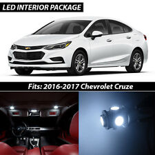 2016-2017 Chevrolet Cruze White Interior LED Lights Package Kit