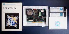 IBM PC - LCE-COM IV - Carte LCE124 + Livre + Logiciels (2 Floppy Discs)