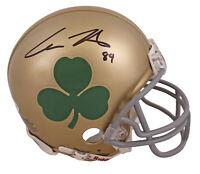 Notre Dame Cole Kmet Authentic Signed Shamrock Mini Helmet BAS Witnessed