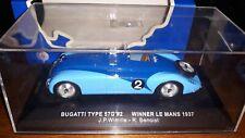 Ixo 1/43 Bugatti Type 57G #2 Winner Le Mans 1937 LM1937