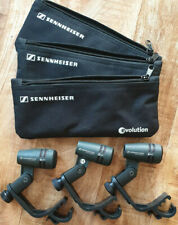 Sennheiser e604 drum microphones with mounting clips and bags (3 available)