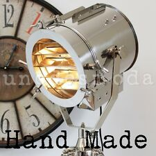 Tripod Floor Lamp TALL Chrome Nautical Search Light Designer Modern - RRP $799