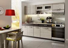 Küche 240cm Schränke, Küchenzeile erweiterbar Picard - Lava Neu&Schnell