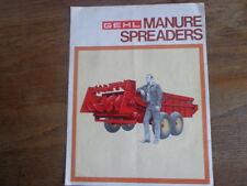1972 Gehl Manure Spreaders 180 250 350 500 West Bend Sale Brochure Advertisement
