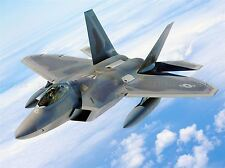 MILITARY AIR PLANE BOMBER FIGHTER JET FLY F-22 RAPTOR POSTER ART PRINT BB942A
