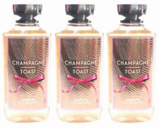 Bath and & Body Works LOT of 3 CHAMPAGNE TOAST Shower Gel Body Wash