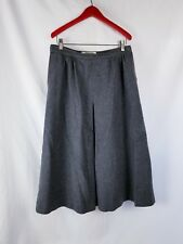 VTG Jaeger Womens Skirt Size 14 Gray Pleated A Line Wool