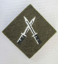 BRITISH ARMY INFANTRY CLOTH PATCH - SECTION COMMANDERS BATTLE COURSE BADGE SCBC
