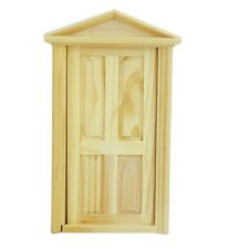 1/12 Dollhouse Miniature Exterior Inward-Open Wood Door with Steepletop DT