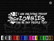 Zombie #2 Walking Dead Protected by Scary Gothic Car Decal Window Vinyl Sticker
