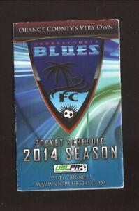 Orange County Blues--2014 Pocket Schedule--USL Division 3