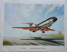 Gran Bretaña C 1962 B. E. A. Hawker Siddeley Trident avión 1 tarjeta de cumpleaños