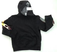 NWT Gymboree Turbo Charge Charged M 7-8 Black Flame Sleeve Hoodie Sweatshirt