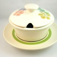 Franciscan Floral Round Covered Gravy Boat Sauce Bowl Earthenware California USA