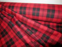 FREE SHIPPING BY 5 YARDS~ Red Menzies Tartan Plaid Fabric
