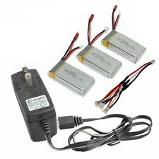 3x Lipo Battery 7.4V 1200mAh + 3 in 1 Cable+ Charger Set for Helicopter MJX X101