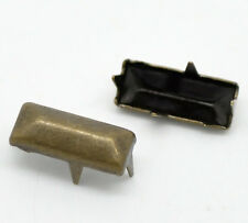 "100 Bronze Rivet Stud Spikes -11mm x 5mm - 3/8""x1/4"" Rectangle 4 Legs 18730"