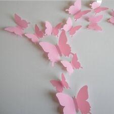 3D butterfly Art Decor PVC butterflies Mural wall stickers 12 pcs