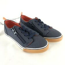 Cat & Jack Toddler Boys Luka Sneakers Zipper Lace Up Navy Blue Size 11