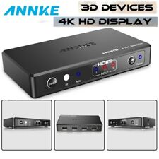ANNKE 3 Ports HDMI Switch Splitter Remote Control Switcher for DVR 4K 1080P HDTV
