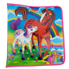 Vintage Lisa Frank Rainbow Horses Padded 3 Ring Zipper Binder RARE VTG 90's