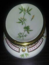 New ListingVintage Royal Copenhagen Porcelain Flora Danica Botanical Salt Cellar Lush Gilt