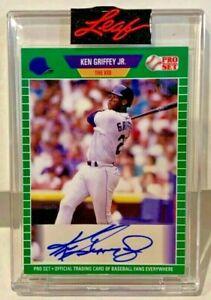 """Ken Griffey Jr. """"The Kid"""" 2021 Leaf Pro Set Emerald Autograph Auto #'d 1/2"""